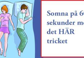 Har du problem att somna? Med det HÄR knepet så somnar du på 60 sekunder!