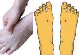 Om du trycker på den här punkten på foten varje dag, händer DETTA med din kropp!