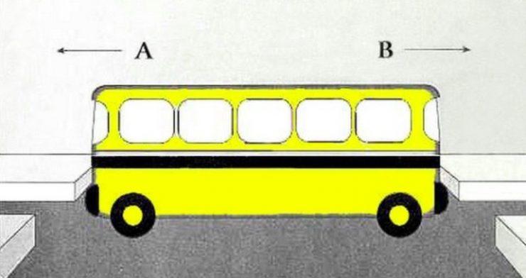 I vilken riktning kör bussen? Bara dom smartaste klarar det här.