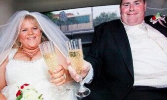 När bröllopsbilderna kommer, får mannen panik. Han vill inte att frun ser dem!