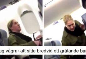 Kvinnan vägrar att sitta nära den lilla bebisen på planet och hotar flygvärdinnan. DÅ slår karma till!