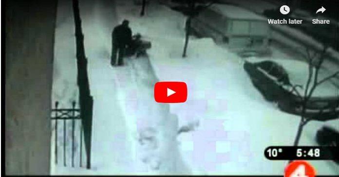 Familjens snöskyffel försvann mystiskt under natten. Men se vad pappan i familjen gör DÅ!