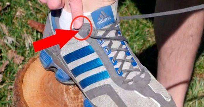 Jag har alltid undrat över vad det övre hålet på skorna är till för. Men det var då jag hittade den här videon!