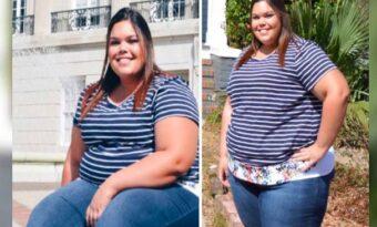 Kvinnan ändrade två av sina matvanor. Den lilla förändringen lät henne gå ner 75 kilo!
