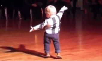2-åringen hör sin favoritlåt – Då startar han en dans som har gjort miljontals människor glada!