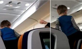 Barnet skriker och går bärsärk under åttatimmarsflygningen: Vad mamman gör då? INGENTING!
