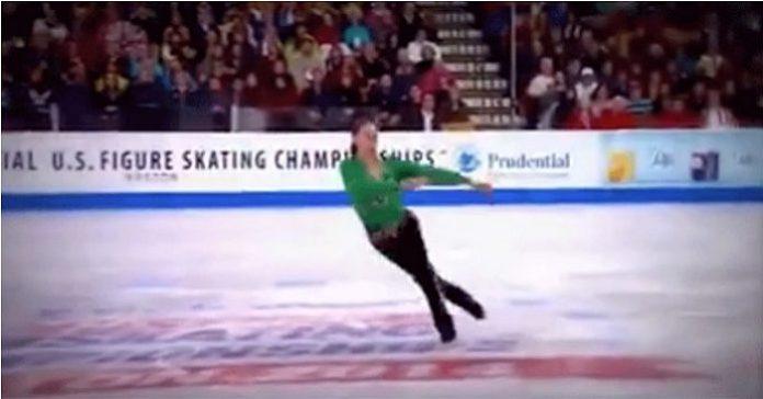 Konståkaren dansar irländsk folkdans på isen. Reaktionen? Publikens applåder är ÖRONBEDÖVANDE!
