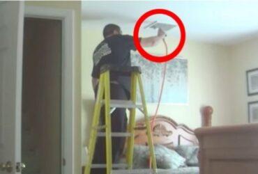 Kvinnan sätter upp dolda kameror i huset. Men när hon ser vad hantverkaren gör, kokar hon av ilska!