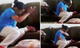 Barnet slutar inte skrika. Det mamman gör du är helt oförlåtligt!